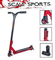 Трюковый самокат Scale Sports STORM красный (детский, для начинающих / новичков, от 7 лет и старше)