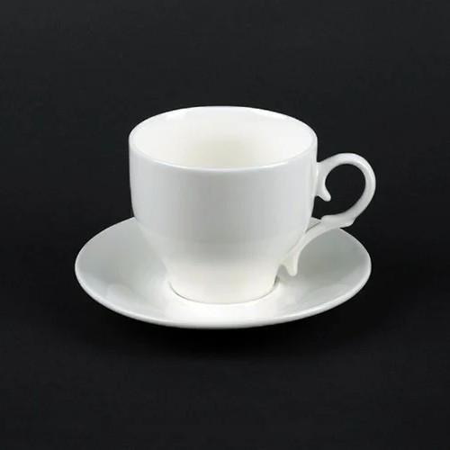 Белая чашка для американо 150 мл+блюдце HLS Extra white (A7071)
