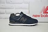 Чоловічі кросівки натуральний замш і текстиль в стилі New Balance 574, фото 2