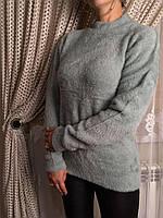 Гольф жіночий сірий травичка, фото 1