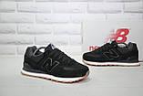 Чоловічі чорні кросівки натуральний замш в стилі New Balance, фото 4