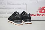 Чоловічі чорні кросівки натуральний замш в стилі New Balance, фото 5