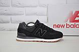 Чоловічі чорні кросівки натуральний замш в стилі New Balance, фото 7
