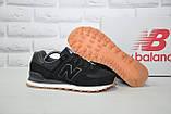 Чоловічі чорні кросівки натуральний замш в стилі New Balance, фото 3