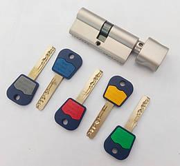 Цилиндр замка Mul-t-lock Integrator ключ/поворотник никель сатин 62 мм