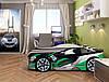 Кровать машина Спейс БМВ серый