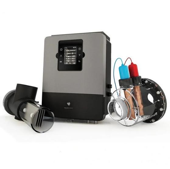Бесхлорная система обеззараживания  Гидролизер AQUASCENIC  до 65 м3 Premium для частных бассейнов
