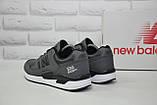 Чоловічі сірі шкіряні кросівки в стилі New Balance 530 EURONCAP, фото 2
