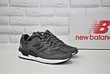 Чоловічі сірі шкіряні кросівки в стилі New Balance 530 EURONCAP, фото 3