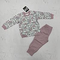 Детская теплая домашняя одежда, пижама для девочки, р.86
