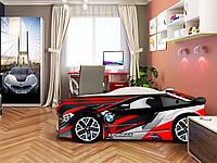 Кровать машина Спейс БМВ красный