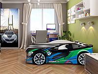 Кровать машина Спейс БМВ зеленый