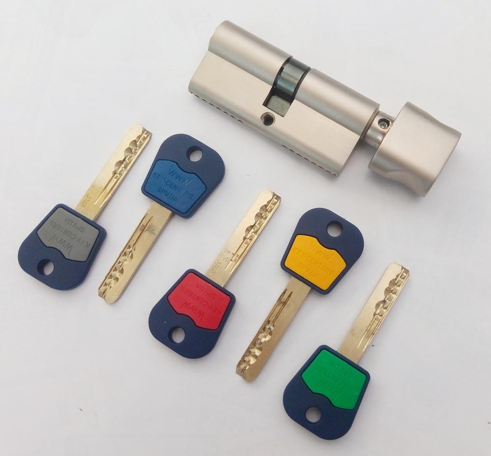 Цилиндр замка Mul-t-lock Integrator ключ/поворотник никель сатин 81 мм