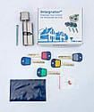 Цилиндр замка Mul-t-lock Integrator ключ/поворотник никель сатин 81 мм, фото 9