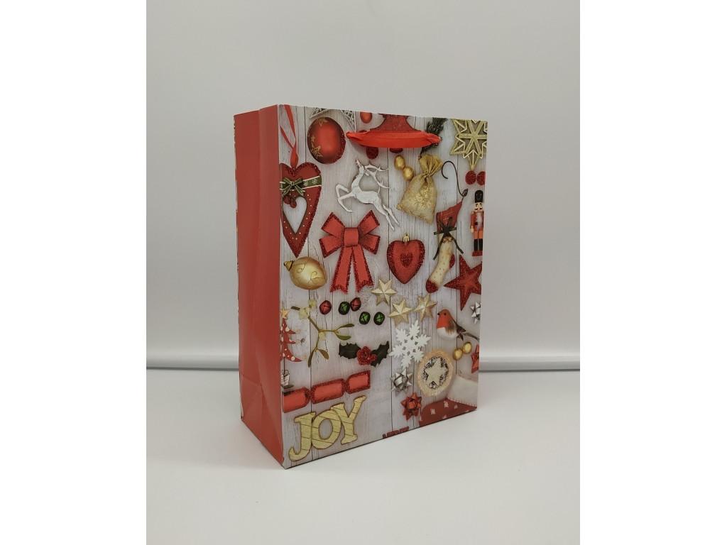 Пакет новогодний 18-24-8,5 см 03082-1