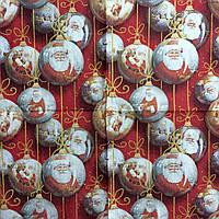 """Салфетка декупажная 25x25см 28 """"Украшение для елки с Дедом Морозом""""(товар при заказе от 500грн)"""