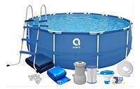 Каркасный бассейн, круглый, 450 x 90 см AVENLI/Bestway с лестницей для дома и дачи