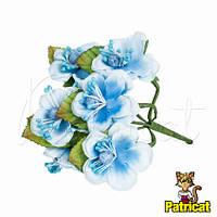 Цветы яблони голубые диаметр 3.5 см 3 шт/уп Декоративный букетик
