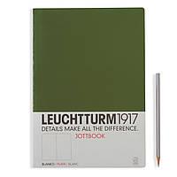 Блокнот Leuchtturm1917 Jottbook (21х29,7 см) М'яка обкладинка Великий Хакі Чисті аркуші (350468), фото 1