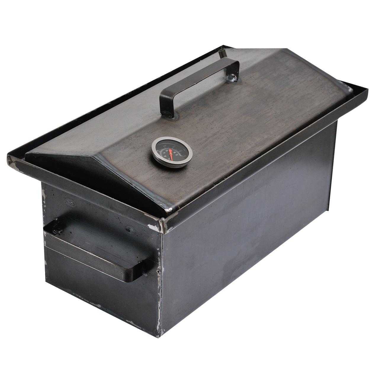 Коптильня горячего копчения 2мм 460х260х240мм с термометром (коптилка,каптилка)