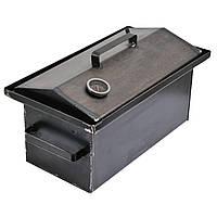 Коптильня горячего копчения 2мм 460х260х240мм с термометром (коптилка,каптилка), фото 1