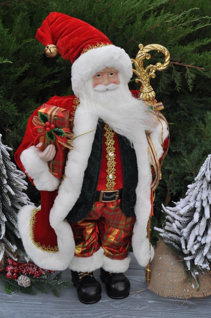 """Фігурка """"Санта з палицею"""", 60 см"""