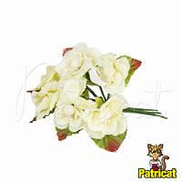 Цветы яблони Молочный диаметр 3.5 см 3 шт/уп Декоративный букетик