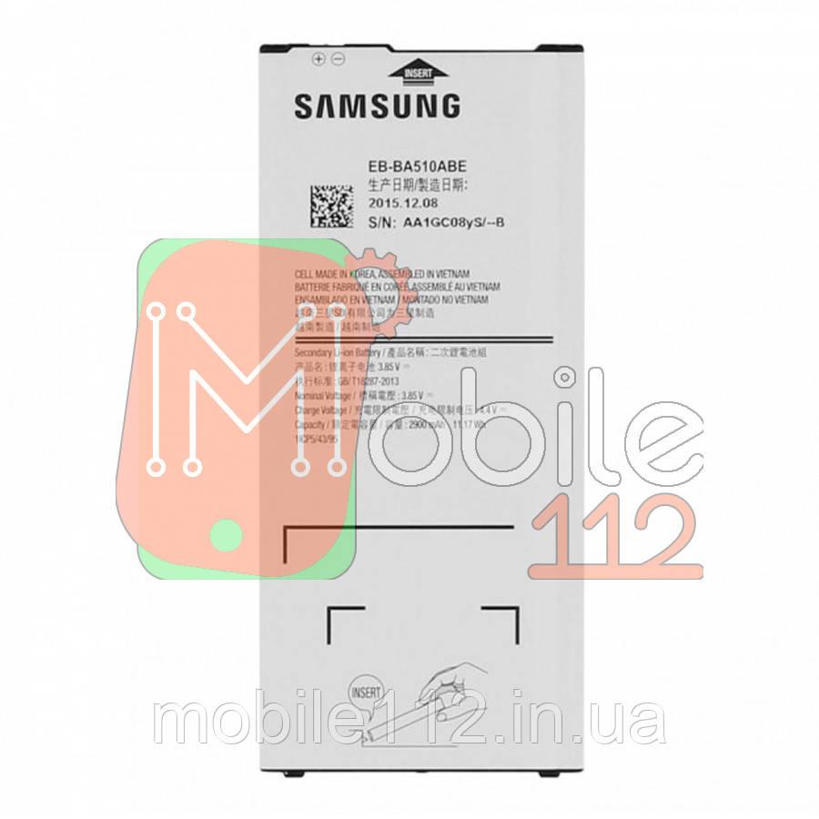 Аккумулятор (АКБ батарея) Samsung EB-BA510ABE оригинал Китай Galaxy A5 2016 A510H 2900 mAh
