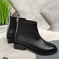 Кожаные ботинки на удобном небольшом каблучке
