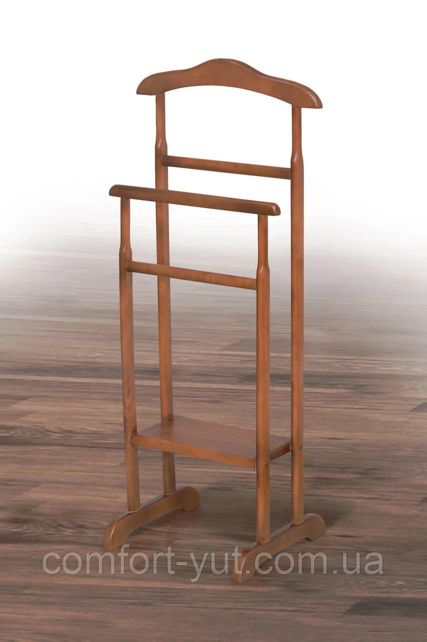 Вешалка Сигма орех напольная переносная деревянная