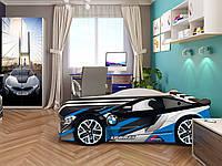 Кровать машина Спейс БМВ голубой