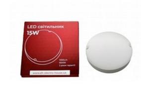 Светодиодный LED светильник 15W 6500К 1050 Lm IP54 EН с датчиком движения для ЖКХ