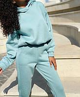 Тёплый женский спортивный костюм, женский спортивный костюм на флисе Минт, 42-44, 44-46, 46-48