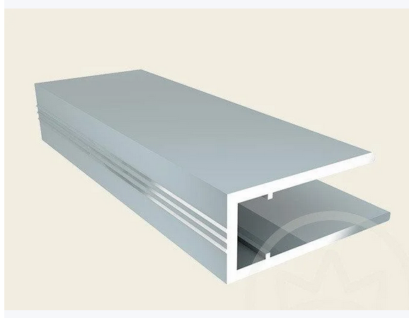 Алюмінієвий торцевий профіль АПТ - 20 мм ТМ SOLIDPROF (бронзовий, анодований)
