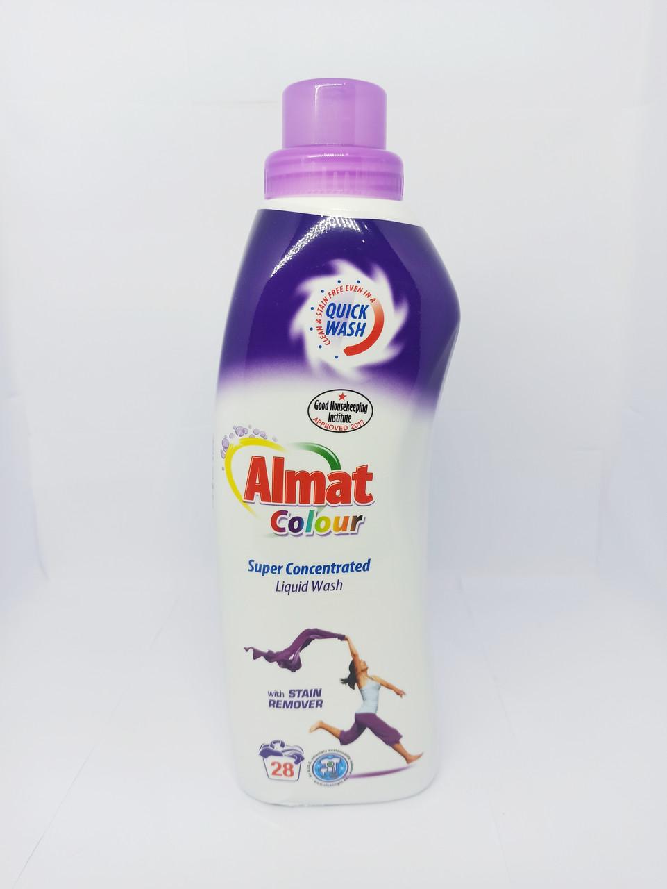 Гель для стирки цветных вещей Almat colour liquid 980мл./28 стирок
