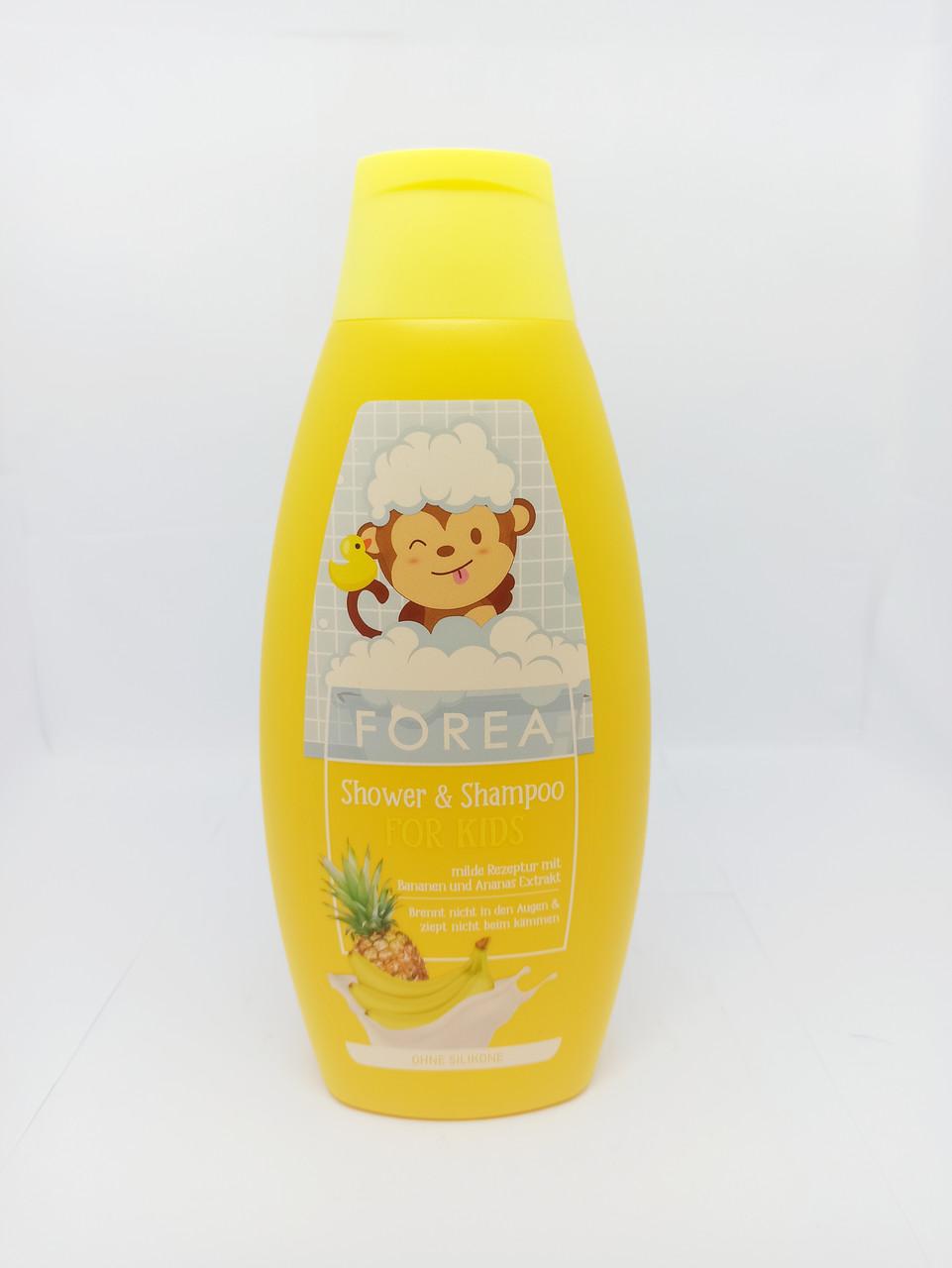 Детский шампунь- пена Forea ананас- банан 500мл