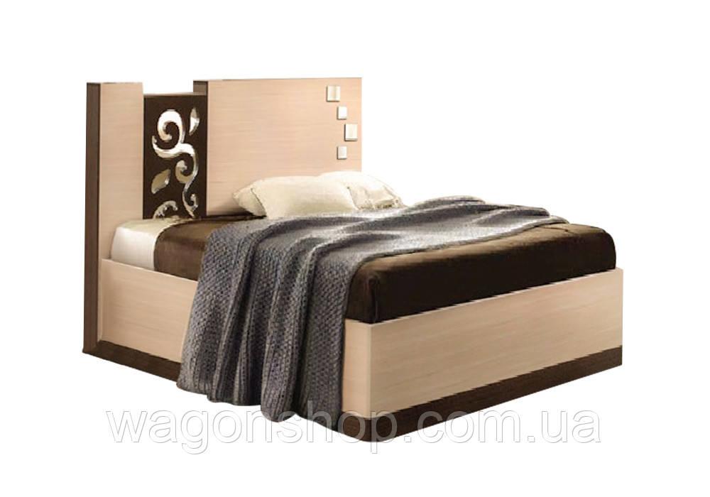 """Ліжко двоспальне """"Сага"""" 140x200 Майстер-Форм"""