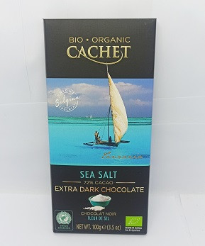 Cachet organic extra dark 72% Sea Salt 100Г