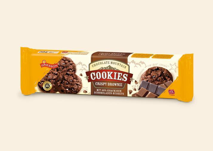 Печенье Griesson Crispy Brownie  Chocolate 150 гр