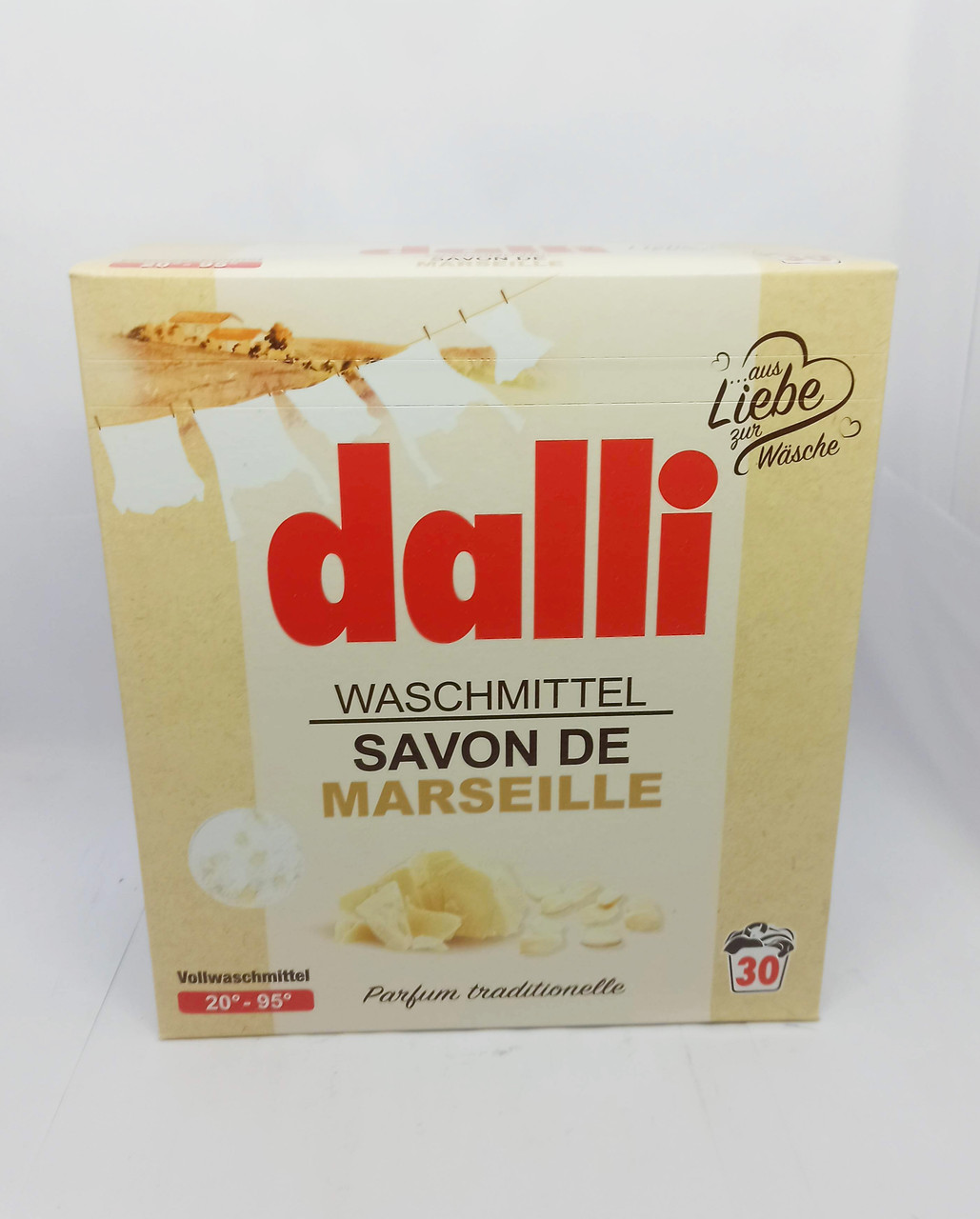 Порошок для прання Dalli Waschmittel Savon De Marseille зі стружкою марсельського мила, 1.95 кг (30 прань)