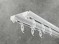Потолочный карниз Quadrum DS двойной усиленный алюминиевый 370 см