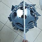 Колеса с грунтозацепами 400/150(Полоса 4*15) МБ с полуосью 32мм (3мм толщ пластины) Булат, фото 2