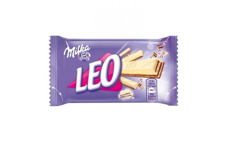 Milka Leo white вафельки у молочному шоколаді 33,3 г