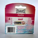 Сменные лезвия Wilkinson Sword Women Quattro 3 шт + станок, фото 2
