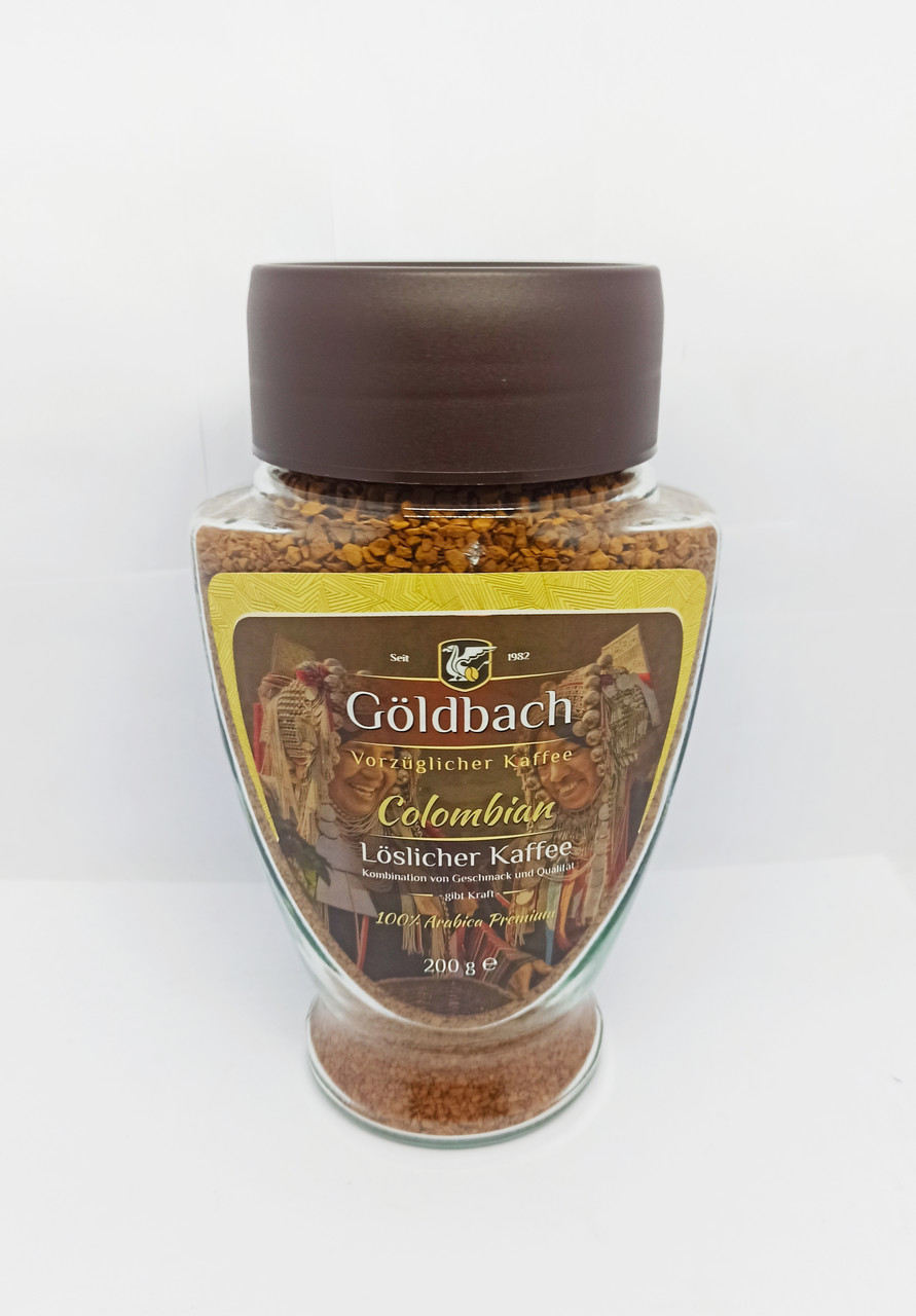 Кава розчинна Goldbach Colombian 200g (Німеччина)