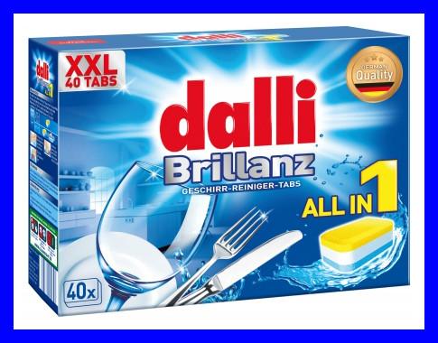 Таблетки для посудомойной машины Dalli Brillanze 40шт