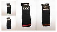 Мужские носки высокие стрейчевые с цветной полоской Кардешлер