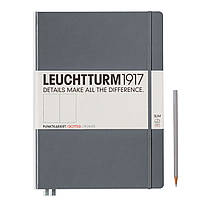 Блокнот Leuchtturm1917 MasterSlim A4+ (22,5х31,5 см) Антрацит Крапка (344815), фото 1