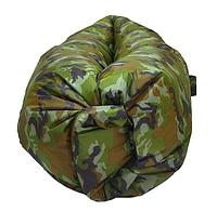 Надувной шезлонг диван лежак гамак 230 см HLV Camouflage