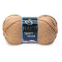 Пряжа Nako Sport Wool 221 карамель